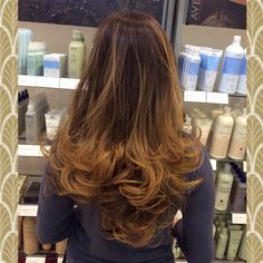 Try out this Sunlight blonde balayage highlights melted on a golden brown base. #layers #hair #cut #wavy #curls #blowdry #longlayers #sunlight #blonde #balayage #highlights #sunlightblonde #balayagehighlights #golden #brown #base #goldenbrown #brownbase #beautiful #fabulous #makeover #newyears #welcome2015 #newyear #newyou #aveda #kerastase #loreal #nyc #brooklyn #bayridge #alamodesalonandspa #hairsalon #7184911100