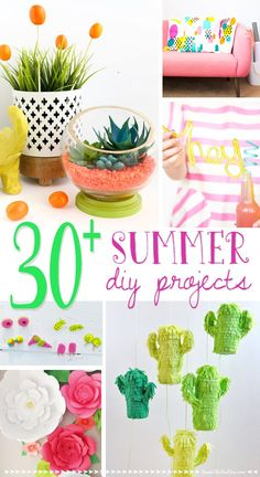 It's almost summer and these projects are sure to get you inspired for the upcoming season!   DIY Summer Decor Projects - Inside the Fox Den