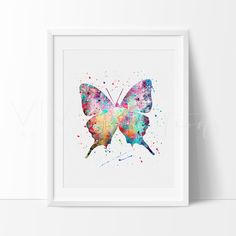 Butterfly Modern Contemporary Stylish Art Print Wall Decor Nursery. Our designs make an attractive, modern contemporary wall piece for your baby nursery, home, office or even as a gift.
