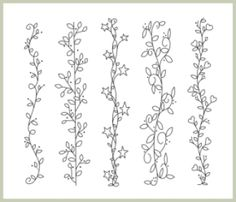 Pretty Borders 1 - Embroidery   YouCanMakeThis.com $5.00