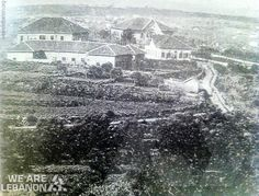 The building of Asfourrie Psychiatric hospital in Hazmieh, year 1900