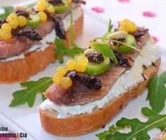 Gourmet Appetizers, Canapes, Vegan, Mojito, Bruschetta, Sushi, French Toast, Sandwiches, Food And Drink