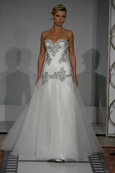 Panina Tornai Wedding dress - Diamond detailed wedding dress. This is elegant, expensive, and represents Blanches desire for her own wedding