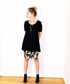 LuLaRoe Perfect Tee and Cassie Skirt