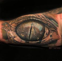 Gator Eye Tattoo Design