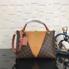 Replica Louis Vuitton, Gucci Designer Handbags, Wallets, Belts - Louis  Vuitton Monogram Canvas V TOTE MM Safran c68a654d0ca
