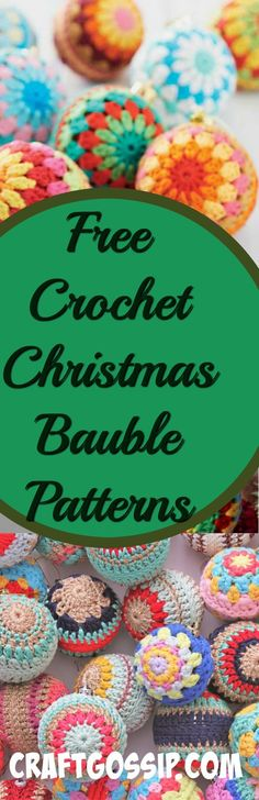 This roundup features 10 amazing Crochet bauble patterns. These Christmas Baubles are traditional and can be wrapped around plastic store bought baubles or stuffed with filling. These Christmas bau…