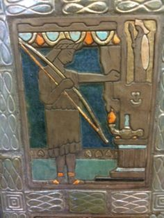 Detroit Public Library, fireplace. Pewabic Pottery in Detroit created the tiles.