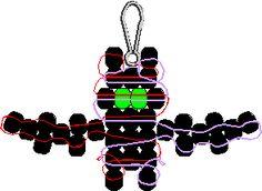 Bat Pony Bead Pattern - Use glow-in-the-dark beads for eyes Pony Bead Projects, Pony Bead Crafts, Seed Bead Crafts, Beaded Crafts, Pony Bead Animals, Beaded Animals, Halloween Beads, Halloween Patterns, Pony Bead Patterns
