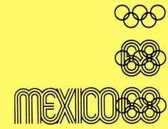 Logotype for the 1968 Summer Olympic games. Designed by Lance Wyman