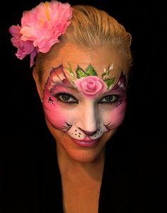 Cat princess facepaint katt ansiktsmaling