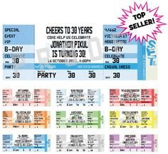 Free Event Invitation Templates | ... ticket design party pass ...