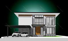รหัสแบบ: MO-H2-BL2.262.14 บ้านสไตล์: แบบบ้านสองชั้น Modern    สเปคแบบขนาดพื้นที่ จำนวน: 2 ชั้นพื้นที่ใช้สอย: 262 ตารางเมตร ห้องนอน: 4 ห้องขนาดที่ดิน: 47 ตารางวา ห้องน้ำ: 3 ห้องที่ดินกว้าง: 13. เมตร ที่จอดรถ: 2 คันที่ดินลึก: 13.50 เมตร      ราคาก่อสร้าง 3.88 ล้าน: CON SPEC 4.90 ล้าน: METAL SPEC House Plans, Floor Plans, Mansions, House Styles, Home Decor, Decoration Home, Manor Houses, Room Decor, Villas
