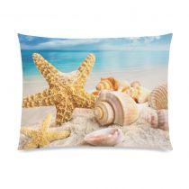 InterestPrint Sea Starfish Seashell Beach Home Decor, Ocean Blue Sky Soft Pillowcase 20 x 26 Inches - Summer Sand Star Seascape Pillow Cover Case Shams Decorative