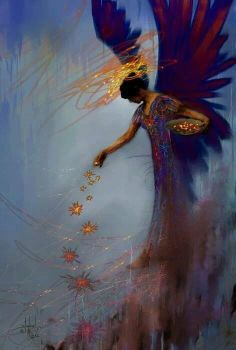 """Your angels touch is everywhere -- in blooming flowers, sparkling streams, and star-filled skies. - """"Your Secret Angel""""- Suzanne Siegel Zenkel,"""