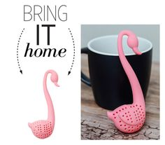 """""""Bring It Home: Flamingo Tea Infuser"""" by polyvore-editorial ❤ liked on Polyvore featuring interior, interiors, interior design, home, home decor, interior decorating, Sunnylife and bringithome"""