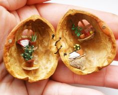 miniature walnut house by tinyminds on Etsy, $30.00