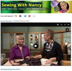 Learn to sew a Sensational Scarf | Spiral Scarf | Easy Technique with Nancy Zieman | Sewing With Nancy