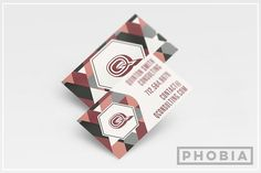 Abstract Business Card Template by Phobia Creative on @creativemarket