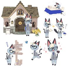 Animal Crossing Fan Art, Animal Crossing Villagers, Animal Crossing Memes, Persona 5, Anime Furry, Cute Pokemon, Cartoon Shows, Furry Art, Anime Art