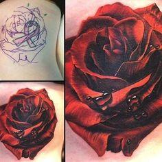 Rosa Tattoo, 16 Tattoo, Tattoo Henna, Rose Tattoos For Women, Black Rose Tattoos, Flower Wrist Tattoos, Flower Tattoo Designs, Rose Tattoo Cover Up, Black Rose Tattoo Coverup