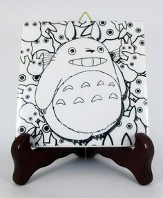 My Neighbor Totoro Ceramic Tile  Handmade from by TerryTiles2014