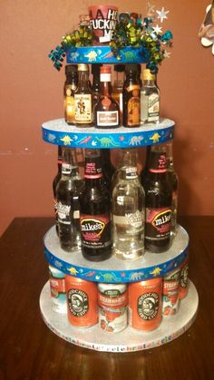 Birthday Beer Cake Tower Diy Amp Crafts That I Love