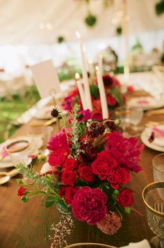 centerpieces with candles