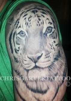 f4eeb28e6 tiger tattoo 3 White Tiger Tattoo, Black White Tattoos, Chris Garver Tattoo,  Torres