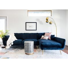Sectional Sofas - Buy New Furniture The Simplest Way By Using These Tips Blue Couch Living Room, Living Room Sectional, Living Room Furniture, Modern Furniture, Antique Furniture, Blue Sectional, Blue Couches, Painted Furniture, Navy Couch