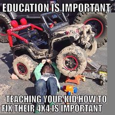 Teach 'em early!! #kids #trucks #mudding #country visit:  www.facebook.com/pages/truckyeahletsgomuddin