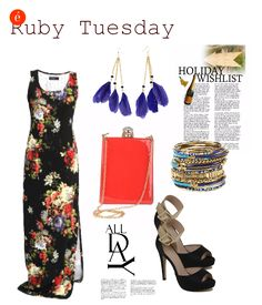 How to wear a printed maxi-dress.