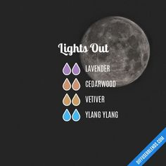 These are all my favorite bedtime essential oils! Lights Out Essential Oil Diffuser Blend