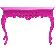 Console Table, In Shocking Pink Lacquer, So Beautiful, Sharing Hollywood Luxury Lifestyle Home Decor & Gift Ideas Courtesy Of InStyle-Decor.com Beverly Hills Enjoy & Happy Pinning