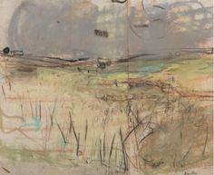 Joan Kathleen Harding Eardley (British, 'Fields of Barley' Landscape Drawings, Watercolor Landscape, Abstract Landscape, Landscape Paintings, Watercolor Art, Landscape Elements, Contemporary Landscape, Art Sketchbook, Painting & Drawing