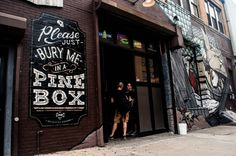 Pine Box Rock Shop (signage  mural) by No Entry Design, via Behancehttp://www.behance.net/gallery/Pine-Box-Rock-Shop-(signage-mural)/9602293?utm_source=Triggermail_medium=email_campaign=Net%20Project%20Published