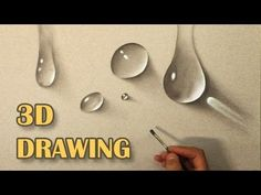 Drawing of water drops/ Life Like DRAWING/ How To Paint hyperrealistic 3D - YouTube