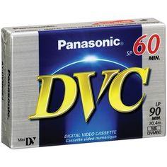 PANASONIC AY-DVM60EJ MINI DIGITAL VIDEO CASSETTE (60 MIN) by Panasonic. $11.49. PANASONIC AY-DVM60EJ MINI DIGITAL VIDEO CASSETTE (60 MIN)60 MIN OF RECORDING IN SP MODE & 90 MIN IN LP; METAL-EVAPORATED TAPE;THIN, CARBON-COATED FILM; SINGLE