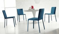 LUNETTE, design: Studio Ozeta - Metal frame chair with soft leather o fabric covering.- www.ozzio.com