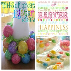 Carrot Wreath tutorial (HERE)       Make rice crispy treat baskets and fill them with Easter candy!      Get your own print (HERE...