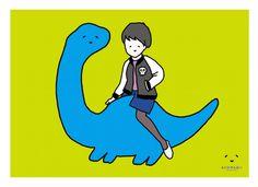 今週のとんぼせんせい「ブラキオサウルスとガール」