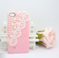 The Pearl Lace Pink shell iphone 4 iphone 4s case