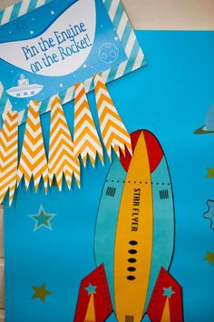 """Photo 12 of Birthday """"Rockets & Robots Space Party"""" Rocket Birthday Parties, Birthday Party Themes, Boy Birthday, Birthday Ideas, Alien Party, Astronaut Party, Rocket Ship Party, Rocket Ships, Outer Space Party"""
