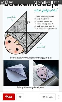 corner bookmark idea - can also make it to color in before folding