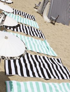 I need these turquoise and white towels for our pool house. We use turquoise accents all over our house.