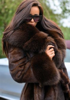 NEW BROWN ROYAL MINK FUR COAT FOX CLASS SABLE CHINCHILLA LONG JACKET TRENCH VEST in Clothing, Shoes, Accessories, Women's Clothing, Coats, Jackets | eBay