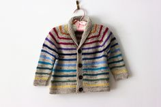 Baby knits.  Sophisticated Striped Gramps by Tanis Lavallee