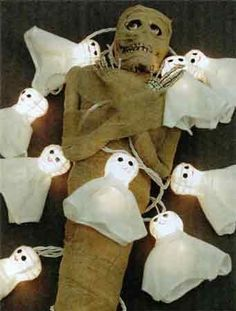 Holiday Lights 10 Miniature Bulbs with Ghost Covers for Halloween Lighting by Holiday Lights. $14.99. Shunted bulbs: If a bulb burns out, the string stays on. Flasher bulb allows entire string to flash. UL listed for indoor and outdoor use. Interconnectable end-to-end for up to 3 strings total. Fused plug for an added level of protection (1 spare fuse included). Holiday Lights 10 Miniature Bulbs with Ghost Covers for Halloween Lighting  10 Ghost Lights , end to end ... Seasonal Decor, Fall Decor, Holiday Decor, Halloween Candy, Halloween Decorations, Halloween Lighting, Light Covers, Holiday Lights, Trick Or Treat