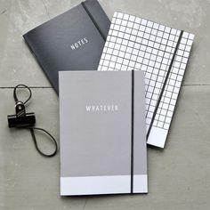 Tonos de la colección de cuaderno gris revista conjunto de 3