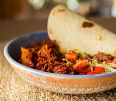 New Mexico Carne Adovada. New Mexico Carne Adovada - Pork marinated and slow cooked in red chile Pork Recipes, Mexican Food Recipes, Ethnic Recipes, Red Chile Sauce Recipe, Red Sauce, Adovada Recipe, Carne Adovada, Traditional Mexican Dishes, Salsa Roja